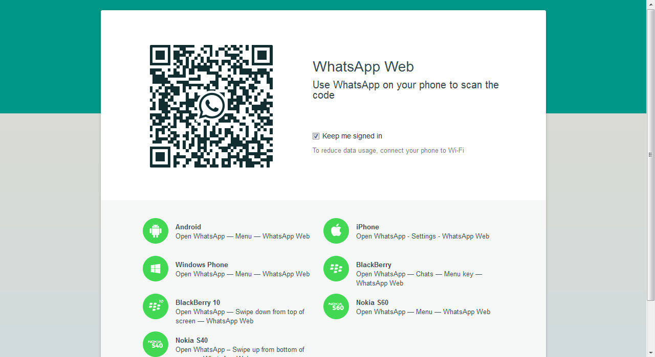 WhatsApp Web 2015