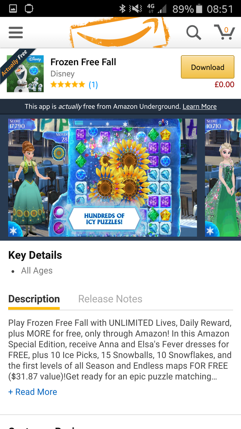 frozen free fall game