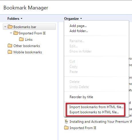 backup bookmarks